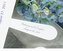 "Personalized 9"" White Plastic Wedding Program Fan Handle - Set of 100"