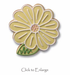 Yellow Daisy Gourmet Cookie Favors