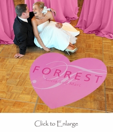 Heart Wedding Dance Floor Decal (2 Sizes; 17 Colors Available)