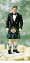 Scottish Groom in Kilt Mix and Match Cake Topper Figurine