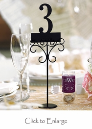 Ornamental Wire Table Number / Sign Holders (Set of 6)