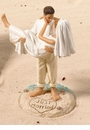 """Just Married"" Beach Couple Cake Topper - In Stock!"