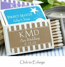 Personalized Matchbox Favors in White Box (Set of 50)