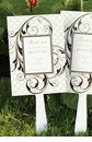 Geometric Flourish Wedding Favor Fans (Set of 24)