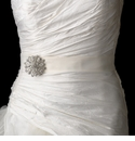 Bridal Belts with Brooch Accent