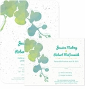 Watercolor Orchid Plantable Wedding Collection