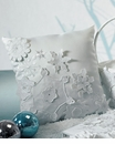 """Winter Finery"" Snowflake Wedding Ring Pillow"