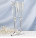 "Disney ""Dreams Come True"" Wedding Toasting Flutes"