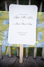 Wedding Program Fans: A Unique Touch to Your Reception