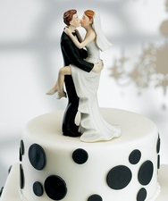 A Funny Cake Topper to Lighten Up Your Reception