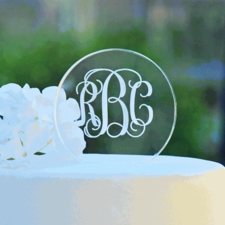 Monogram Cake Toppers & Other Personal Details for your Wedding