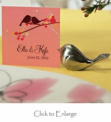 Small Love Bird Favor / Gift Tags - Set of 20 (4 Color Options)