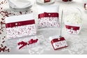 Red Whimsical Swirls Wedding Collection