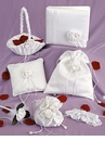 Satin Rose Collection in White or Ivory