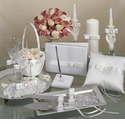 """Crystal Elegance"" Wedding Collection - White or Ivory"