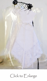 Wedding Dress Hankie Bridal Shower Favors