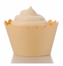 Light Yellow Cupcake Wrappers - Emma Collection (Set of 12)