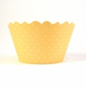Basic Butter Yellow Cupcake Wrappers - Set of 12