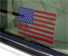 USA  Flag Static Cling Decal