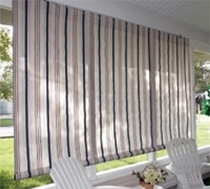 Sunbrella & Textilene Fabric Outdoor Roll Up Window Curtains