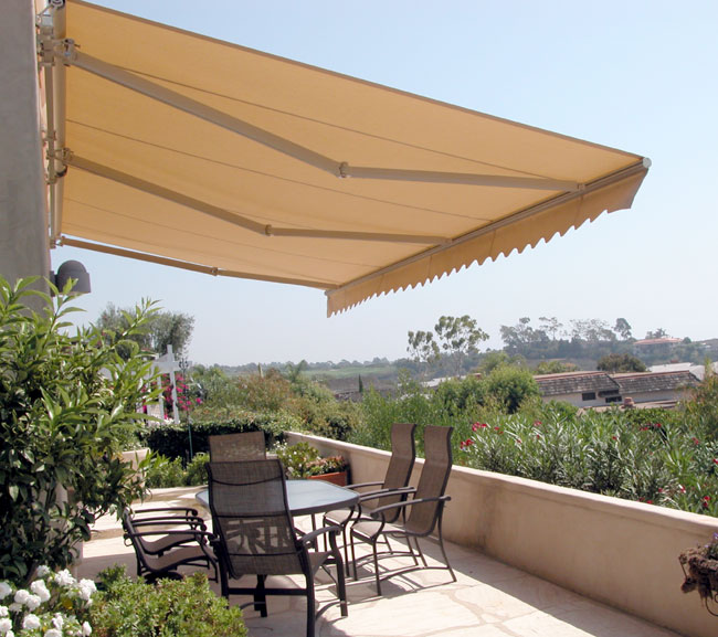 Retractable patio awnings copper series for Retractable patio awning canopy