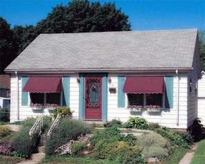 Traditional Style Window Awnings with Scalloped Valance