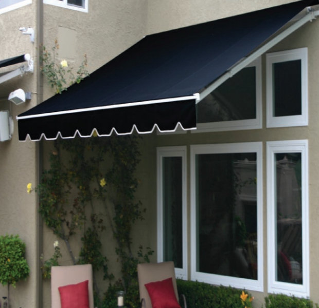 ... Fabric Retractable Porch Cover Canopy   Motorized Or Manual ...