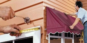 Traditional Style Door Canopy with Scalloped Valance