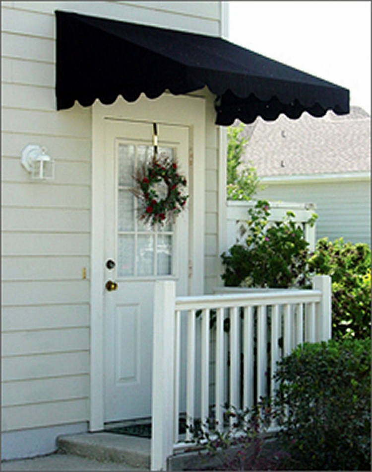 Door canopies sunbrella awning canvas for Exterior door awnings