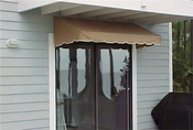 EZAwn Classic Style Window Awnings & Door Canopies Sized 4', 6', 8', 10' & 12' wide in Sunbrella Awning Fabric