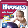 HUGGIES   ULTRATRIM <BR>BABY DIAPERS<BR>(OVER 27)LBS. 92/CASE , KIM 11960