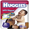 HUGGIES ULTRATRIM BABY DIAPERS<BR>(OVER 35)LBS. 72/CASE
