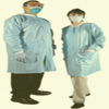 LAB COATS <BR> 50 / CASE , BLUE