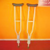 ADJUSTABLE ALUMINUM  <BR> CRUTCHES & ACCESSORIES