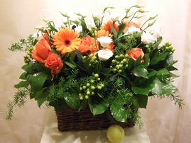Orange Flower Basket