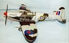 Supermarine Spitfire Mk 1 #FF07 Easy Built Wood Model Airplane Kit
