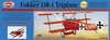 Fokker DR-1 Triplane #204LC Guillows Wood Airplane Model Kit