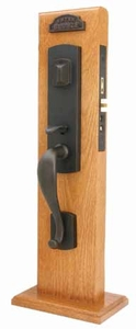 EMTEK 3327 MORGAN MORTISE ENTRY HANDLESET  (click here to view and buy item)