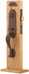 EMTEK 3321 CHEYENNE MORTISE ENTRY HANDLESET (click here to view and buy item)
