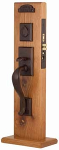 EMTEK 3324 RECTANGULAR SECTIONAL MORTISE ENTRY HANDLESET (click here to view and buy item)