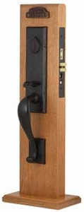 EMTEK 3325 RECTANGULAR MONOLITHIC MORTISE ENTRY HANDLESET (click here to view and buy item)