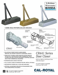 CAL ROYAL CR441 DOOR CLOSER