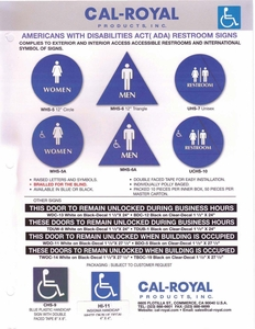 CAL ROYAL HANDICAP DOOR SIGNAGE