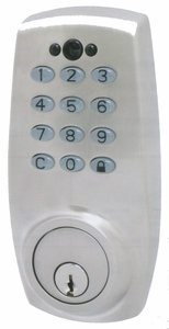 CAL ROYAL ELDB-89 DIGITAL KEYPAD DEADBOLT WITH 2 REMOTE CONTROLS (click here to view and buy item)