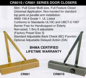 CAL ROYAL CR801S DOOR CLOSER ALUM (click here to view and buy item)