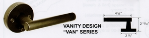 CAL ROYAL VAN-30 VANITY NO KEY PASSAGE LATCHSET ( click here to view and buy item )