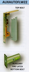 CAL ROYAL AUXAUTOFLW22 AUTOMATIC FLUSHBOLT FOR WOOD DOOR WITH AUXILIARY LATCH( click here to view and buy item )