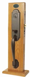 EMTEK 3343 CHARLESTON MORTISE ENTRY HANDLESET (click here to view and buy item)