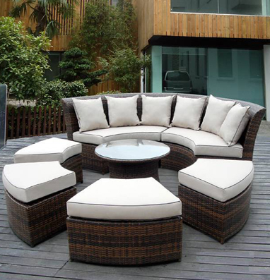 Outdoor Patio Wicker Furniture Sectional 7 pcs couch set