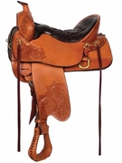 TUCKER HIGH PLAINS TRAIL SADDLE-FLORAL TOOLED (BN, BK, GN) 260